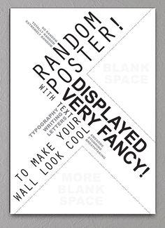 Random poster grafisk tekst plakat