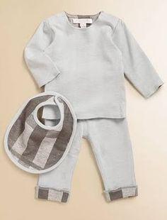 Burberry three piece set for a stylin' baby boy