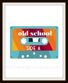 Old School Cassette Tape 8 x 10 Print from Feathered Arrow Press--find more #80s on #boom boom973.com