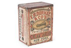 Antique Tin Box on OneKingsLane.com