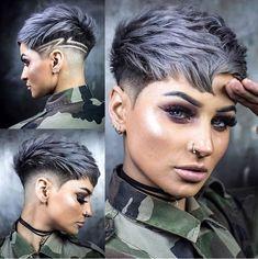 credit card advertising Soldat war noch nie so schn . Dank an ayesha_jessica Stylis - - Haare hellbraun Soldat war noch nie so schn . Dank an ayesha_jessica Stylis - - Ellise M. Funky Short Hair, Short Grey Hair, Short Hair Cuts For Women, Pixie Cut Wig, Shaved Pixie Cut, Shaved Hair Cuts, Pixie Cuts, Shaved Hair Designs, Short Hair Designs