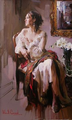 The Garmash's incredible talent is only matched by their love and career stories. Michael and Inessa won several International awards for their portrait work and are considered to be one of the most important figurative artists working on the US market. Oil Painting App, Figure Painting, Double Exposition, Woman Painting, Portrait Art, Beautiful Paintings, Artist At Work, Figurative Art, Painting Inspiration
