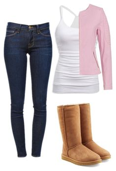 """""""Untitled #204"""" by babbieedee on Polyvore featuring American Eagle Outfitters, Basler, UGG Australia and Frame Denim"""