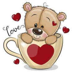 Cute Animals Images, Cute Cartoon Animals, Cute Animal Drawings, Cartoon Drawings, Christmas Flatlay, Teddy Bear Cartoon, Cute Clipart, Fantasy Images, Tatty Teddy