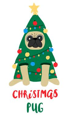 Christmas Rock, Christmas Puppy, Diy Christmas Cards, Merry Christmas And Happy New Year, Christmas Projects, Holiday Crafts, Christmas Ornaments, Xmas Drawing, Christmas Drawing