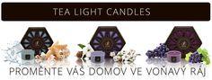 ČAJOVÉ SVÍČKY Tea Light Candles, Tea Lights, Design, Design Comics