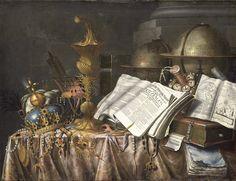 Edward Collier  (с. 1640-с.1710)  — Still Life Vanitas,  1662 :   The Rijksmuseum, Amsterdam.  Netherlands  (2500×1924)