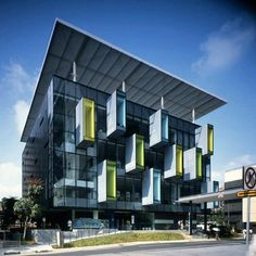 I love ideas like this!  extrusion with windows  -Bishan Public Library / LOOK Architects-