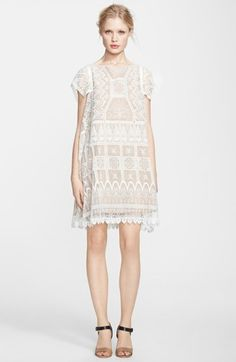 be5f1aae3646 Korovilas Embroidered Lace Babydoll Dress available at  Nordstrom Babydoll  Dress