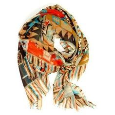 Marveled by Mayan Scarf: Orange - Spotted Moth, Chic and sweet clothing and accessories for women Look Fashion, Fashion Beauty, Fashion Bags, High Fashion, Aztec Scarves, Style Me, Cool Style, Plaid And Leather, Passion For Fashion