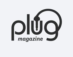 Plug Magazine Logo by Juan Carlos Pagan Clever Logo, Creative Logo, Cool Logo, Logos, Logo Branding, Branding Design, Brand Identity, Crea Design, Best Logo Design