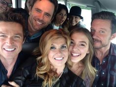 Eric Close, Charles Esten, Connie Britton, Lennon Stella, and Will Chase
