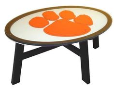 Clemson University Tigers Wood Coffee Table With Glass Cover