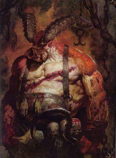 This official artwork and print for Blizzard Entertainment's genre-defining action-RPG series Diablo was made by American gothic fantasy artist Brom (Gerald Brom). Dark Sun, Dragon Age Rpg, Dragons, Arte Dc Comics, Demon Art, Monster Design, Cg Art, Warhammer Fantasy, High Fantasy