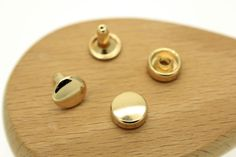 High quality 9mm Double Round Cap Zinc alloy by Kokoroleather