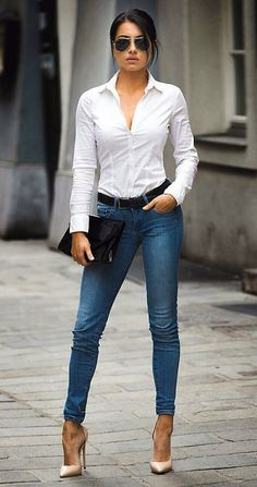 Women Jeans Outfit Drawstring Trousers Mens Fashion Sale Petite Ankle Grazer Trousers Ladies Velvet Trousers Mens Lightweight Trousers Jeans And Heels Outfit – gladiolusrlily Sexy Work Outfit, Casual Work Outfits, Classy Outfits, Chic Outfits, Fashion Outfits, Jeans Fashion, Fashion Heels, Heels Outfits, Jean Outfits