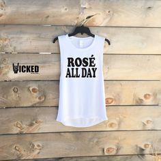 Rose all day Ladies Muscle tank custom made by WickedCustomApparel