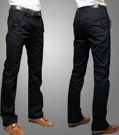 Korean men s fashion Slim pants solid color casual trousers