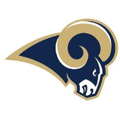 Saint Louis Rams Decals Set of 2 Cornhole Board Decals 12 inch