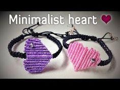Macrame bracelet tutorial: the minimalist heart armlet ❤❤❤ step by step guide by Tita - YouTube