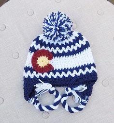 A personal favorite from my Etsy shop https://www.etsy.com/listing/252574474/crochet-colorado-flag-hat-chevron-hat