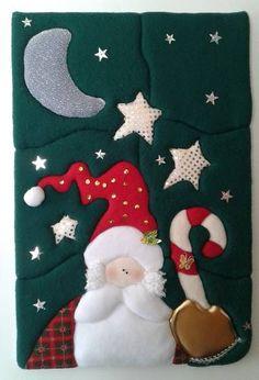 cuadros navideños - Buscar con Google Christmas Balls, Christmas Crafts, Christmas Decorations, Xmas, Christmas Ornaments, Holiday Decor, Christmas Patchwork, Christmas Quilt Patterns, Christmas Stockings