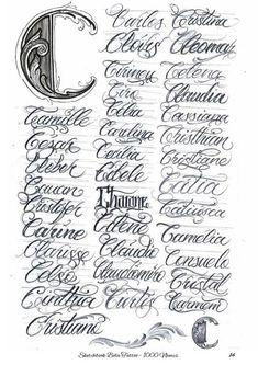 Tattoo Fonts Alphabet, Cursive Tattoos, Script Alphabet, Writing Tattoos, Hand Lettering Alphabet, Tattoo Script, Name Tattoos, Script Lettering, Chicano Art Tattoos