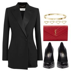 """Sin título #12568"" by vany-alvarado ❤ liked on Polyvore featuring Yves Saint Laurent and Ana Khouri"