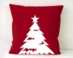 Christmas themes Pillow Cover, Christmas Tree pillow case, white Christmas tree on red cushion, Wall Decorative pillow, Throw pillow Blue Christmas Decor, Christmas Themes, Christmas Decorations, White Christmas, Merry Christmas, Cheap Decorative Pillows, Diy Pillows, Throw Pillows, Christmas Cushions