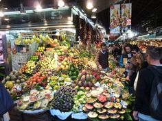 Boqueria Fruit Market in #Barcelona, #Spain LaBoqueria