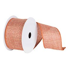 "Pack of 2 Soft Woven Harvest Orange Burlap Wired Edge Craft Ribbon 2.5"" x 10 Yards *** Continue to the product at the image link."