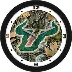 "USF Bulls 12"" Camo Wall Clock"