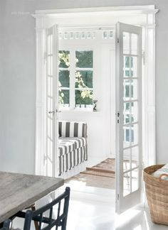 French doors to a sunroom.