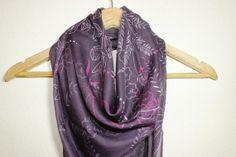 Purple Scarf Turban Turband Hair Wrap Shawl by SULTANSACCESSORIES, $10.50