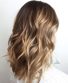 Bronde color melt. Balayage