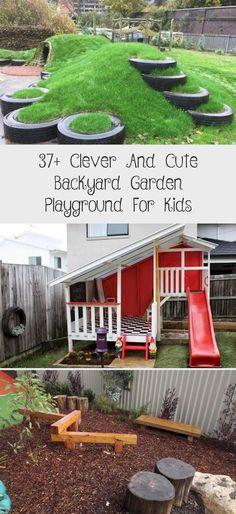 Clever and Cute Backyard Garden Playground for Kids - Garten - Renovieren Backyard Garden Landscape, Modern Backyard, Backyard For Kids, Backyard Projects, Backyard Landscaping, Backyard Playground, Garden Toys, Outdoor Entertaining, Dream Garden