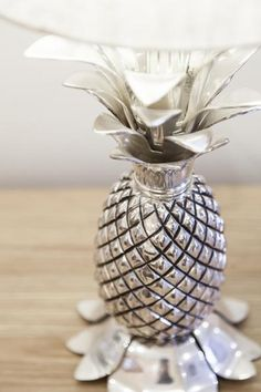 Pineapple lamp- creative hearts.  The pineapple is the symbol of hospitality.
