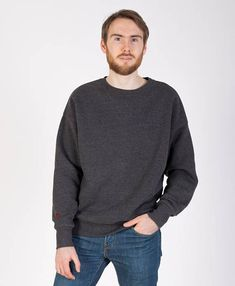 Mens long sleeved waffle knit tees favorite spaces and things 79 usd dark gray base oversize sweatshirt warm and soft high quality fabric long sleeves base sweater with red embroidery logo on the right sleeve publicscrutiny Choice Image