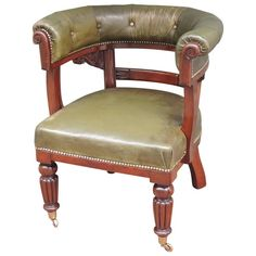 Early 19th Century Regency Cock Fighting Chair | See more antique and modern Armchairs at https://www.1stdibs.com/furniture/seating/armchairs