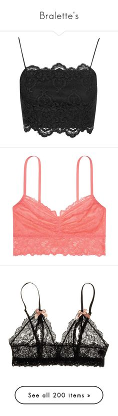 """""""Bralette's"""" by darlingchick ❤ liked on Polyvore featuring tops, crop top, shirts, bralettes, shirt crop top, embroidered crop top, scalloped crop top, embroidered top, bralette crop top and intimates"""