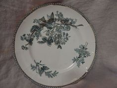 "Antique Royal Gustafsberg 1887 Dinner Plate Green with Bird 10"" Wexio"