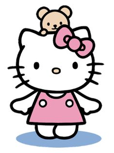 Hello Kitty with pink dress and Teddy Bear Free Vector Hello Kitty Games, Hello Kitty Bow, Vector Tuts, Hello Kitty Clipart, Hello Kitty Drawing, Hello Kitty Imagenes, Bambi Disney, Hello Kitty Pictures, Kitty Images