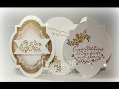 Window Frames Gate Fold card with Dawn - YouTube