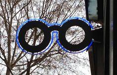 Optical shop sign in Paris