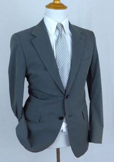 Ermenegildo Zegna Paris Luxury Designer Suit Jacket Striped Classic Fit 40r Jade Weiß Kleidung & Accessoires