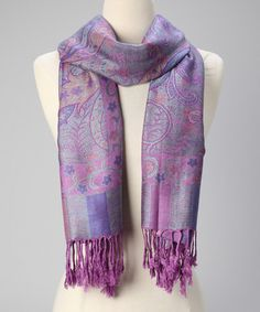 Take a look at this Lavender Kani Silk-Blend Scarf by Rapti on #zulily today!