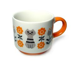 DECOLE - CAT MUG (ORANGE)