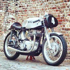 See a handful of my preferred builds - handpicked scrambler bikes like this Norton Bike, Norton Cafe Racer, Norton Motorcycle, Cafe Racer Motorcycle, Norton Manx, British Motorcycles, Vintage Motorcycles, Norton Commando, Motorcycle Manufacturers