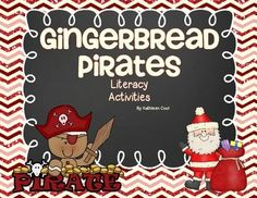 Literacy activities to go with the book Gingerbread Pirates.  Includes reading comprehension, compound word center, worksheets and a create your own gingerbread activity.