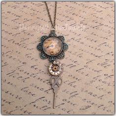 A personal favorite from my Etsy shop https://www.etsy.com/listing/226819754/vintage-clock-necklace-steampunk